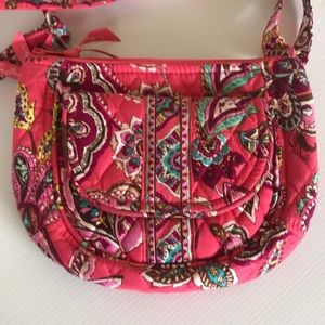 Vera Bradley Call Me Coral Saddle Bag crossbody
